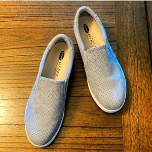 Dr Scholl's BE FREE Grey Suede Slip ons